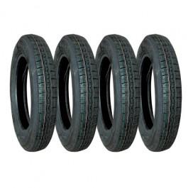 Lot de 4 pneus 125r15 toutes saisons pour 2cv marque Wearwell même profil que l'origine livraison offerte en France continentale