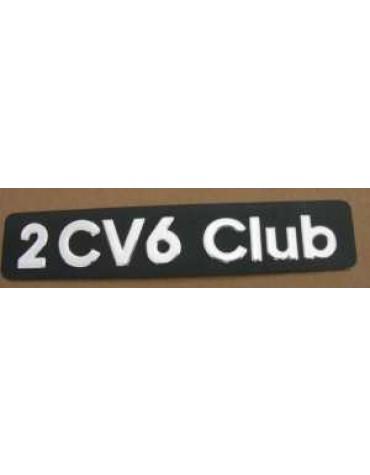 Monogramme 2cv 6 Club