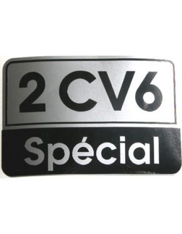 Autocollant 2CV 6 SPECIAL gris noir