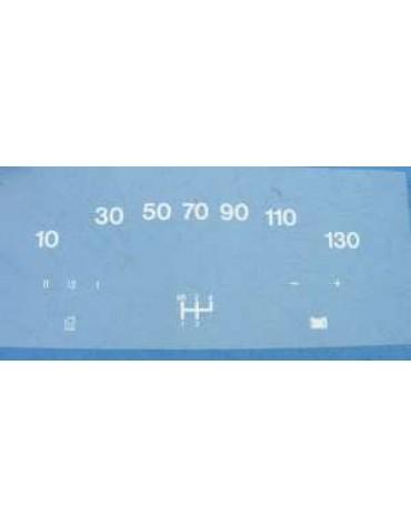 Vitrophanie de compteur  130 kmh