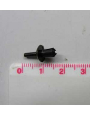 Rivet plastique noir pour fixer le soufflet de porte côté porte sur 2cv