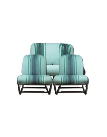 Ensemble de garnitures de rayés verts  sièges symétriques 2cv Dyane