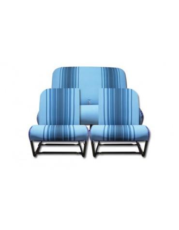 Ensemble de garnitures de sièges rayé bleu dossier asymétrique