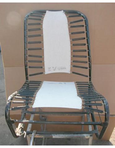 Sommier de siège 2cv et Dyane avec dossier symétrique