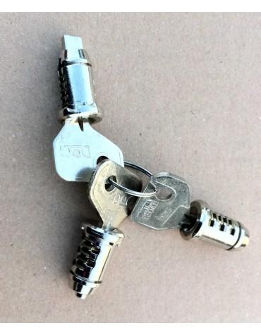 Jeu de 2 barillets de porte et un barillet de contacteur à clé 2cv