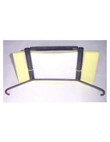 Armature d'appuie-tête avec 2 fourreaux pour un siège