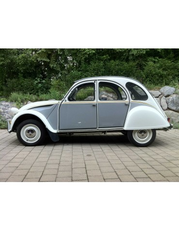 Ensemble d'autocollants pour 2cv Dolly gris cormoran blanc meije