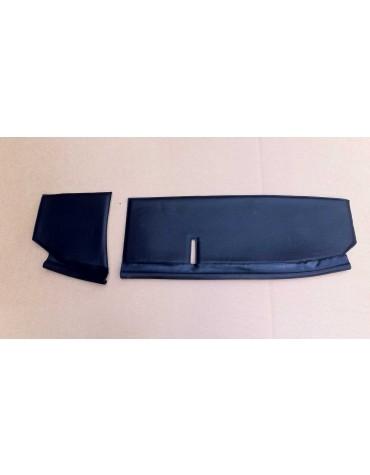 Garniture  de tablette noire 2cv avec bourrelet