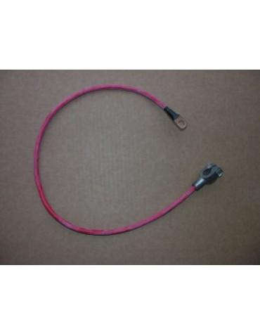 Cable d'alimentation positif occasion longueur : 40 cm cosse à commander en plus photo non contractuelle.