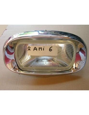 Bloc optique complet veilleuse sur connecteur Ami6 avec support, enjoliveur