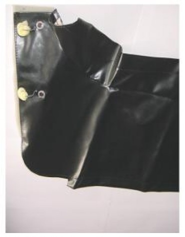 Hamac de coffre en skaï noir, 2CV
