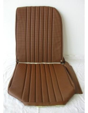 Garniture de siège gauche targa marron, dossier asymétrique pour 2cv et Dyane