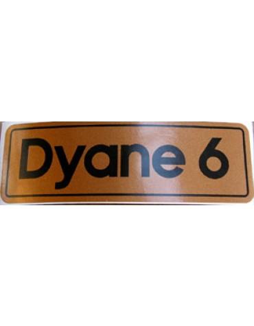 Autocollant Dyane 6