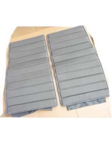 Ensemble de  2 garnitures de sièges gris  uni à sangles pour fourgonnette AU