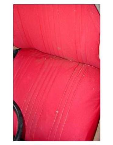 Tissu uni rouge 2cv