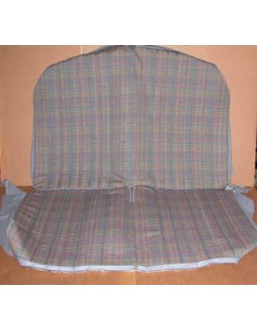 Garniture de banquette arrière 2cv, écossais  chiné gris/bleu