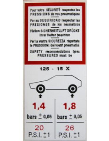 Autocollant pneumatiques 2cv
