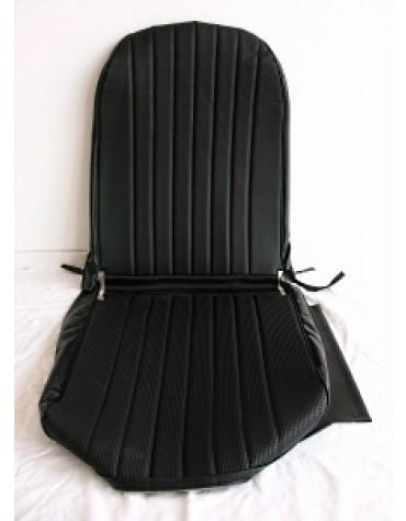 Garniture de siège gauche, targa noir, dossier symétrique pour 2cv Dyane ou Acadiane