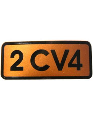 Autocollant 2CV 4 doré