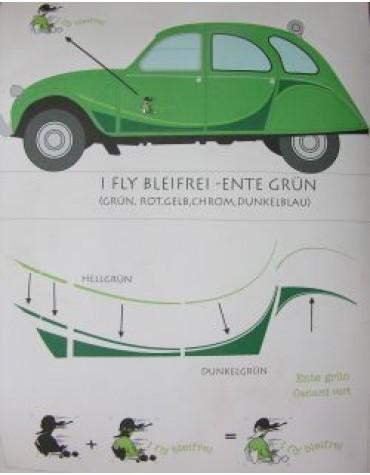 Ensemble Autocollants 2cv Bleifrei