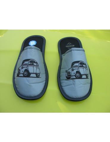 Paire de chaussons homme 44/45 gris