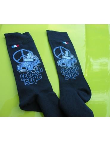 Paire de chaussettes Hommes 43/46French Style bleu