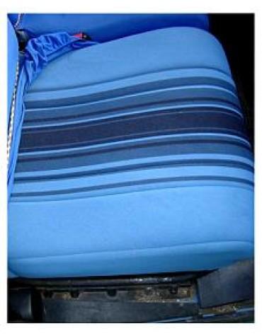 Tissu rayé bleu 2cv bleu Azurite 1981