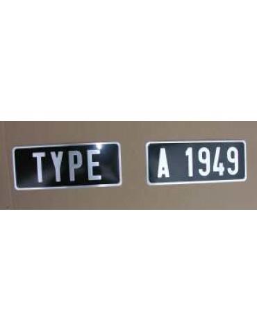 Plaque d'immatriculation arrière 2 parties  HY 275 x 110*
