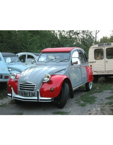 2 CV Dolly grise et rouge de 1985