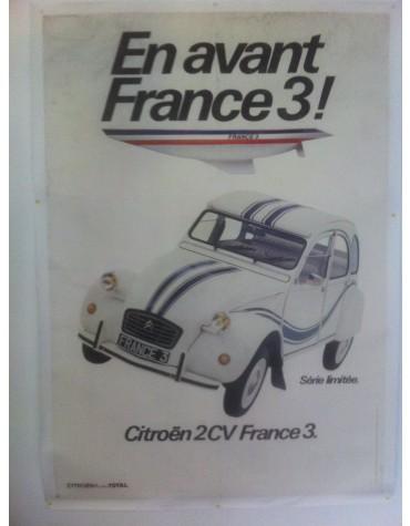Affiche 2cv France 3