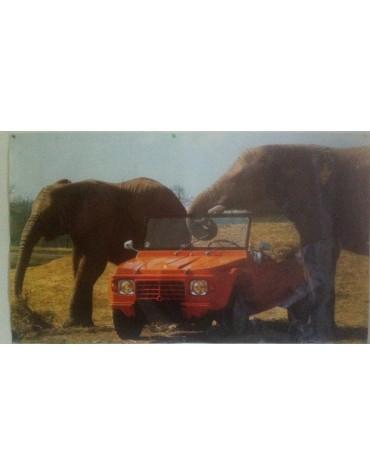 Affiche Méhari avec les éléphants