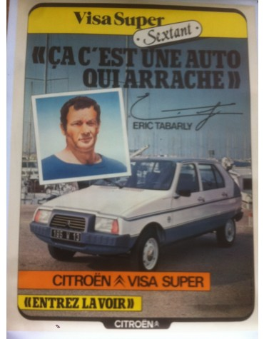 affiche Visa Sextant et Eric Tabarly