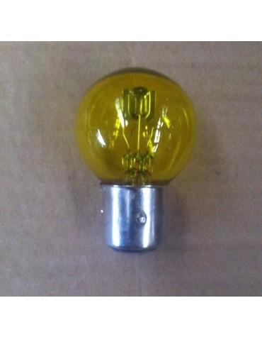 Ampoule de phare jaune ancien montage à baïonnette 12 volts 45/40W