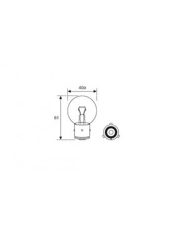 Ampoule blanche à baïonnette monofilament 6 volts 45 watts