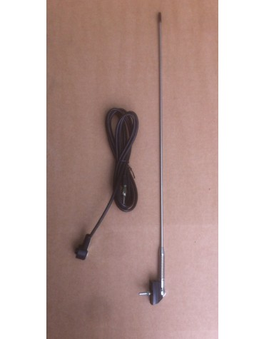 Antenne chromée avec ressort
