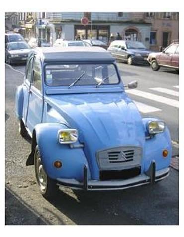 2 CV 6 Club bleu Myosotis 1977