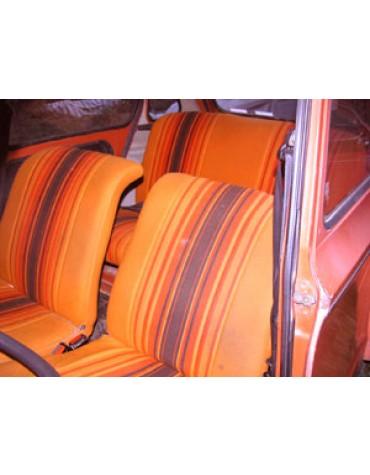 Tissu orange Dyane rouge cuivre indien