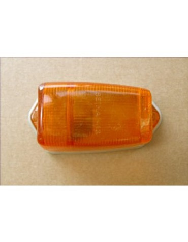 Cabochon de clignotant de custode orange 2CV origine avec joint