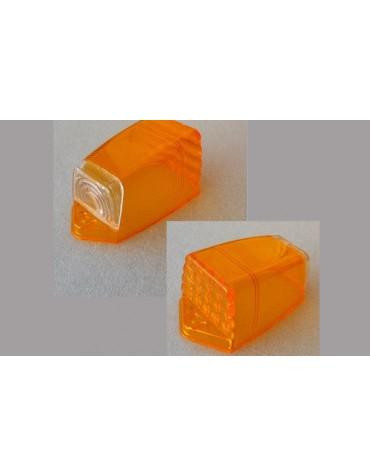 Cabochon nu trapezoidal de clignotant sur custode orange 2cv AZAM et AZA