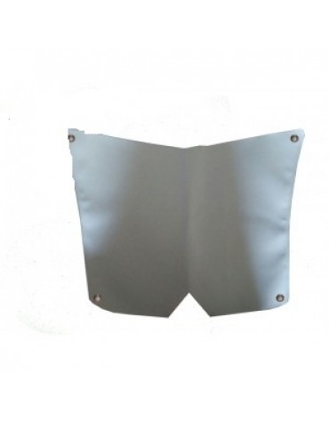 Cache calandre gris clair pour capot 2cv 23 nervures