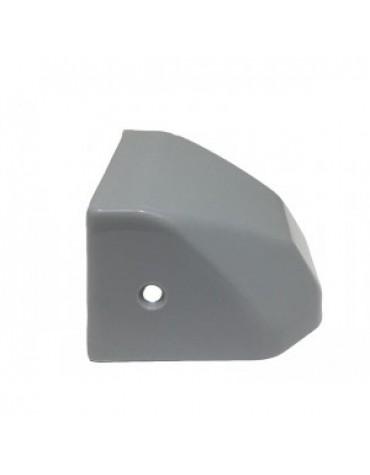 Cache serrure en plastique gris 2cv