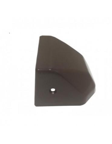 Cache serrure en plastique marron 2cv