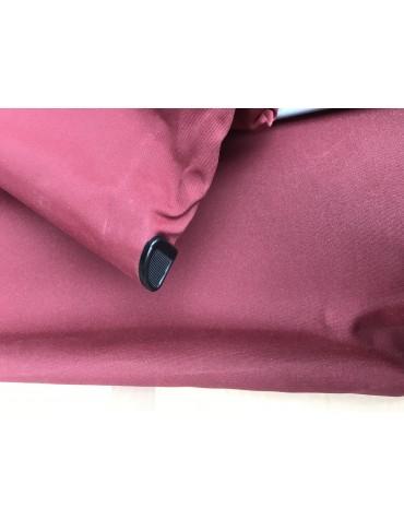 Capote 2cv fermeture intérieure toile coton rouge bordeaux