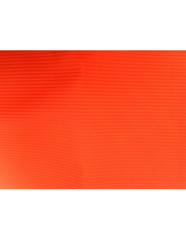 Capote 2cv fermeture extérieure orange petit grain toile renforcée