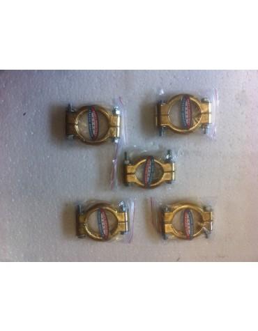 Collection de 5 colliers d'échappement étanches haut de gamme 2cv et Méhari pour un montage sans fuites et sans bruit du pot sous boîte