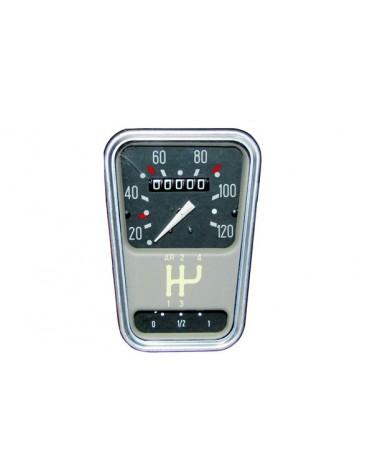 Compteur de vitesse 2cv Spécial et Méhari gradué de 20 à 120 km/h