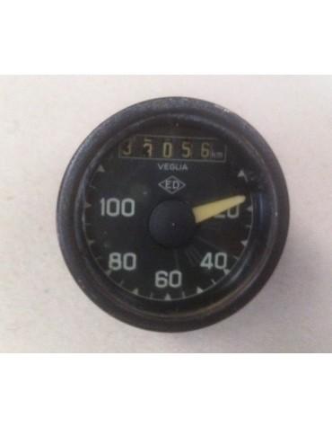 Compteur rond ED ancien modèle gradué de 20 à 100km/h