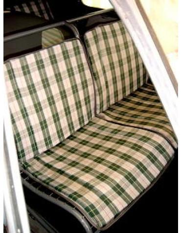 Tissu écossais 2cv vert et blanc