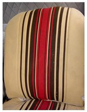 Tissu rayé beige et rouge 2cv 1981