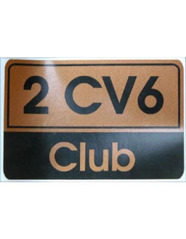 Autocollant 2CV 6 Club doré livraison offerte en France continentale
